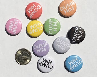 "Dump Him/Her/Them 1"" Pinback Button"