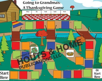 Thanksgiving Cooperative Board Game Instant Download