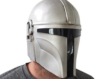 Mandalorian Helmet Adult Size Teen Large Boys Face Mask Soft Latex Costume Cosplay Dress Up Halloween