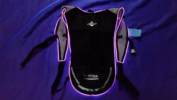 Light Up LED PINK Camelbak Style Hydration Pack Water Backpack for Festivals!
