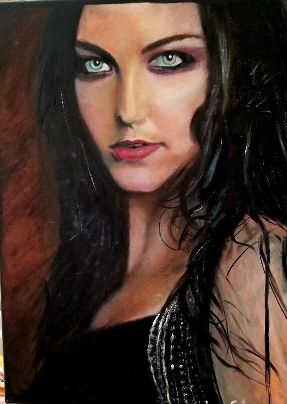 Evanescence Amy Lee Tribute Artwork Rock N Roll Amy Lee Painting Fan Art