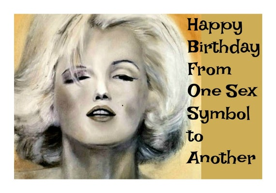 Marilyn Monroe Funny Birthday Card Birthday Cards For Him For Etsy
