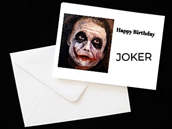 Funny Joker Birthday Card Birthday Card For Him Card For Etsy