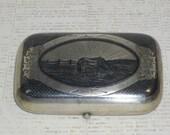 Outstanding Antique Russian 84 Silver Niello Snuff Cigarette Box,Fully Hallmarked