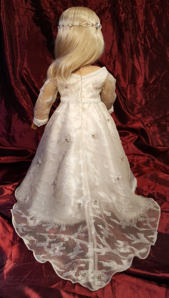 doll dress for 18 inch american girl lot of 5 assorted handmade lace ribbon 188