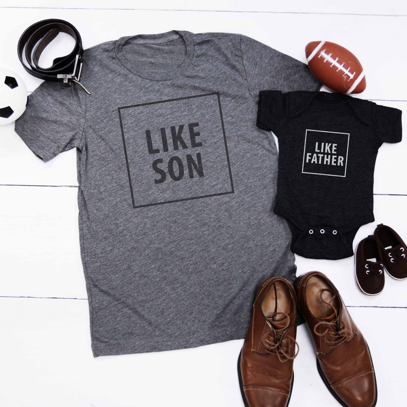 Like Son Father Dad Baby Combo Birthday Gift