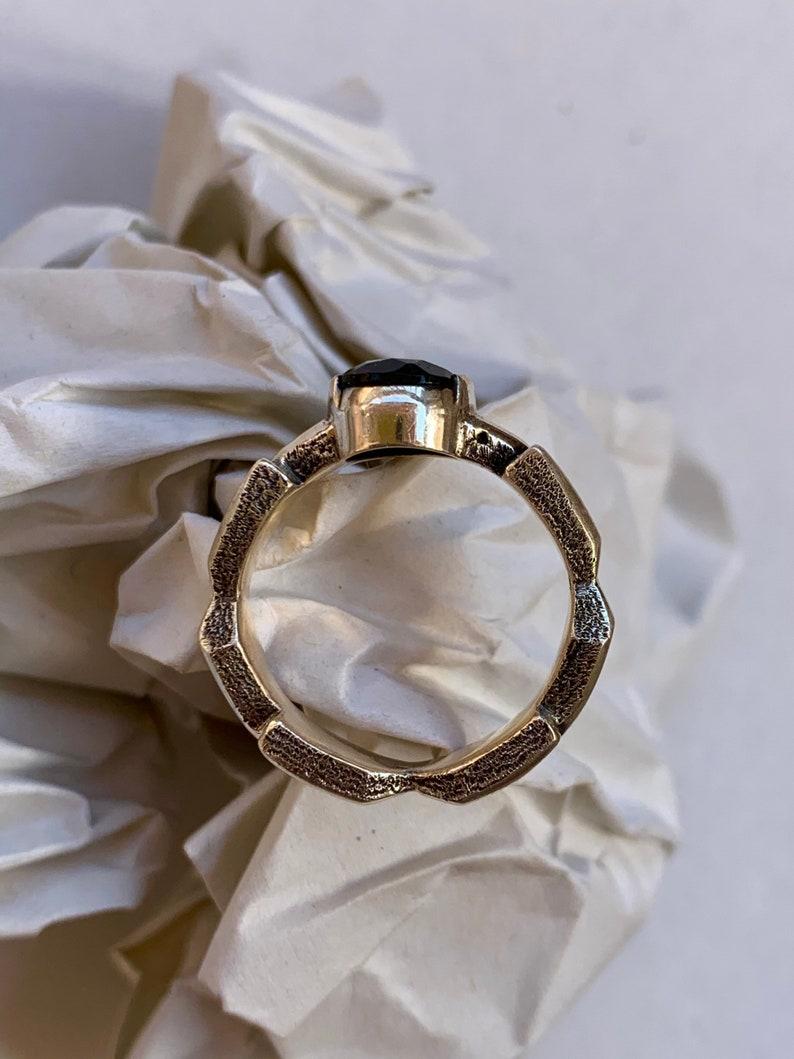 Moldavite Ring Silver 925 7 US Size 963
