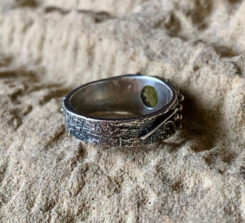 8 34 US Size 1096 Silver 925 Moldavite Ring