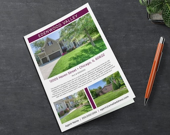 Real Estate Brochure Template   11x17 Bifold   Multi Photo Flyer   Apple Pages   Microsoft Word   Photoshop