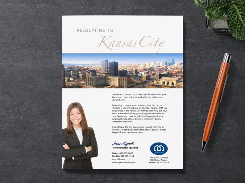 Relocation Real Estate Flyer Template | Apple Pages | Microsoft Word |  Photoshop