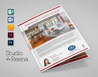 Luxury Real Estate Brochure Template – Multi Photo Flyer – InDesign, Photoshop, Publisher, Word, and Pages