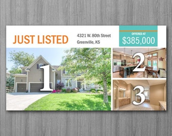 Real Estate Postcard Template - Microsoft Word
