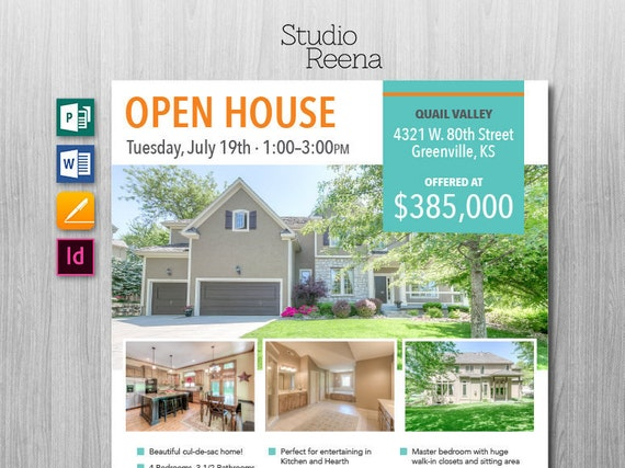 microsoft publisher real estate flyer templates