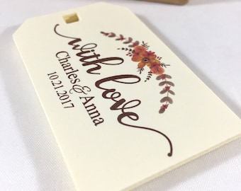 Thank You Wedding Tags, Rustic Wedding Favors, Welcome Bag Tags, Wedding Gift Tags, Wedding Favor Tags, Wedding Thank You Favors, Set of 12