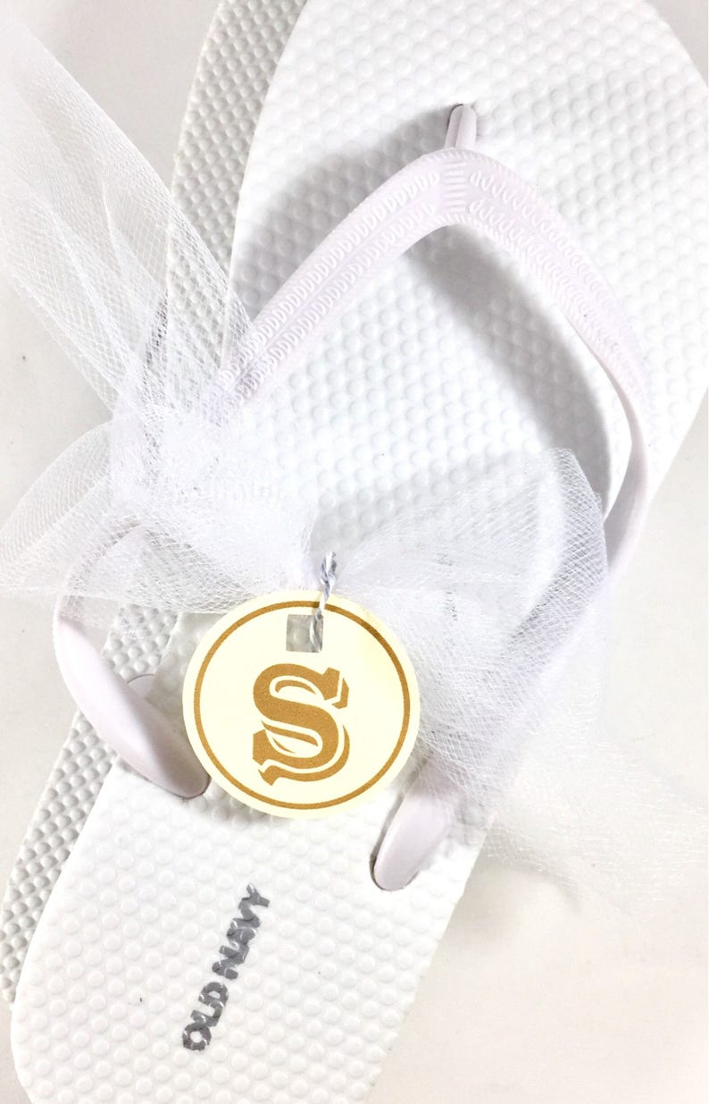 8c1388523c0786 Beach Wedding Flip Flops Size Tags Custom Shoe Tags For Flip