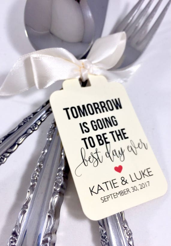 Best Day Ever Wedding Rehearsal Dinner Wedding Favors Tags Etsy