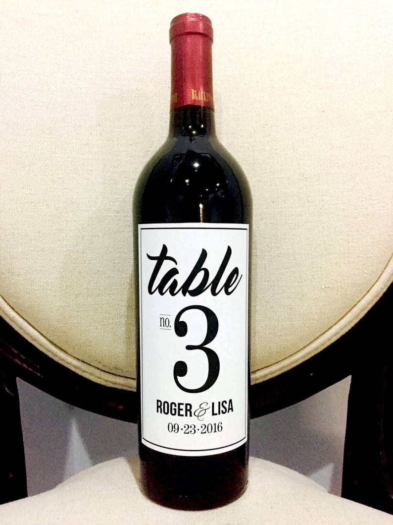 pab 502 Personalized Table Centerpiece Wine Labels Waterproof Wine Bottle Labels Wedding Table Number Wine Bottle Labels,Printed Labels