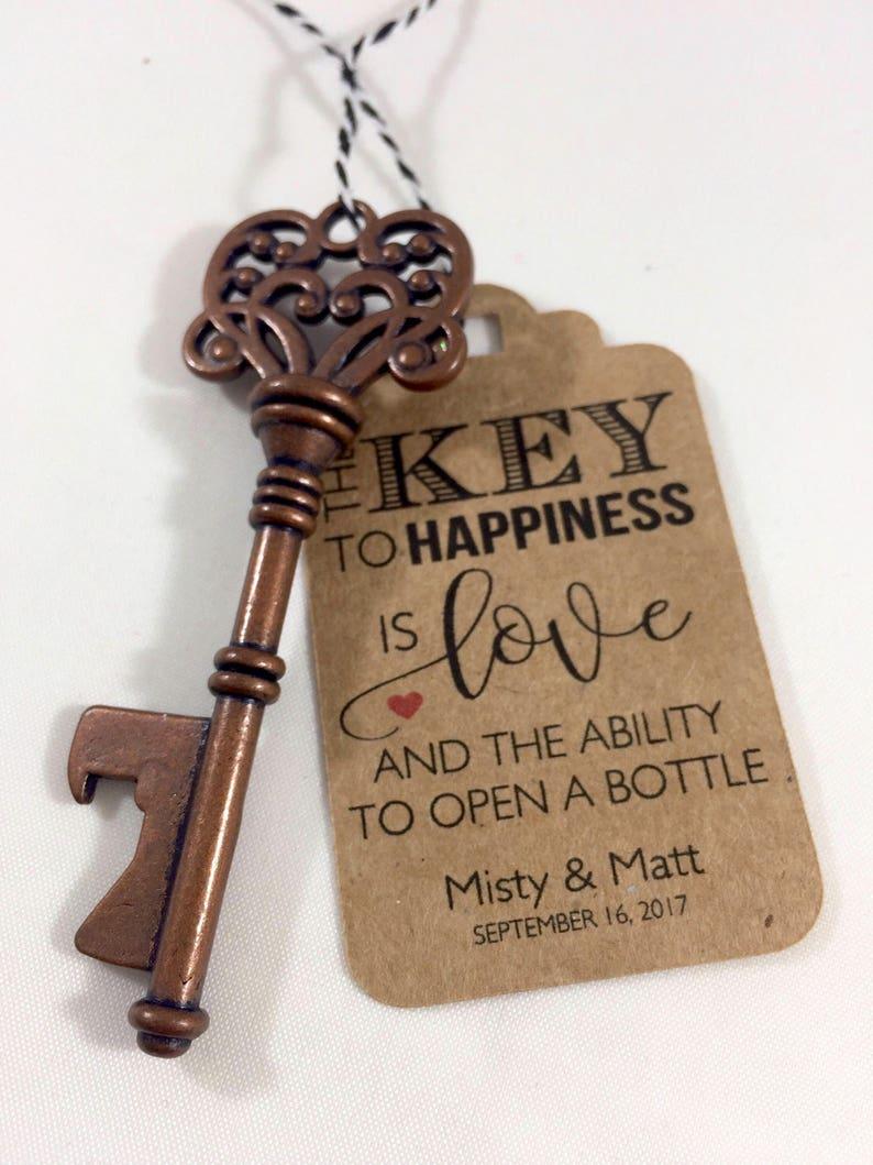 Key Bottle Openers AND Tags Wedding Favors Skeleton Key | Etsy
