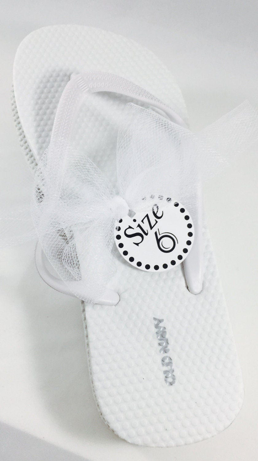 Wedding Flip Flops, Size Tags, Wedding Favors, Dancing Shoes, Shoe ...