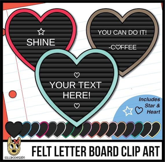 Black Felt ADD YOUR TEXT editable clipart Square Letter Boards Clip Art