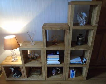 BRAND NEW HANDMADE Freestanding Shelving Unit