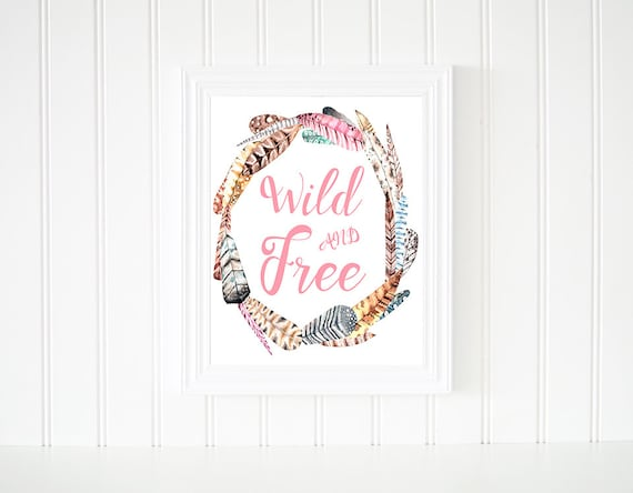 graphic regarding Free Printable Wall Art Decor known as Wild And Totally free Printable Wall Artwork, Feather Print, Wreath Quotation, Boho Print, Watercolor Print, Dwelling Decor, Nursery Decor, Quick Down load.