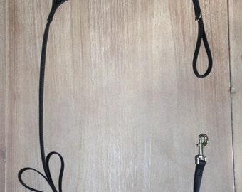Black Tug Control Nylon Dog Leash