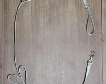 Gray Tug Control Nylon Dog Leash