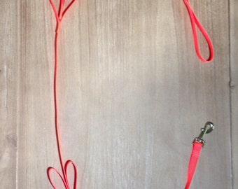 Neon Orange Tug Control Nylon Dog Leash