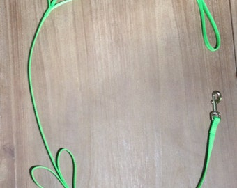 Neon Green Tug Control Nylon Dog Leash