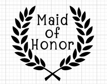 Maid of Honor - Iron-On Vinyl Decal Heat Transfer