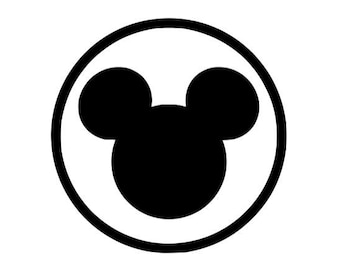 Disney mickey heat transfer iron on mouse goofy head character 2.5 to 5.5 inch