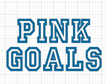 Pink Goals - Iron On Vinyl Decal Heat Transfer
