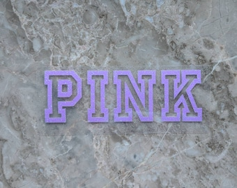 PINK - Iron On Vinyl Decal Heat Transfer