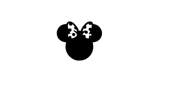 Minnie Mouse Sunglasses Silhouette Iron On Vinyl Decal Heat Transfer