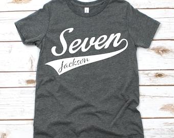 Boys Seventh Birthday Shirt 7th Seven