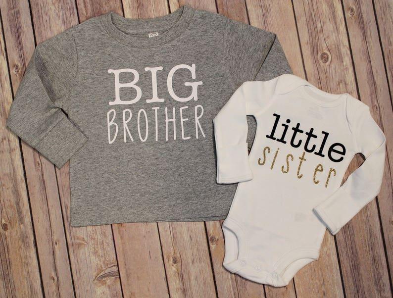 Big brother shirt Big sister shirt Little brother shirt New image 0