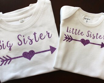 Big Sister Shirt, Little Sister Shirt, Sister Shirt Set, Big Sister Shirt, Little Sister Shirt, Sister Shirt, Sister Shirts, Glitter Sister