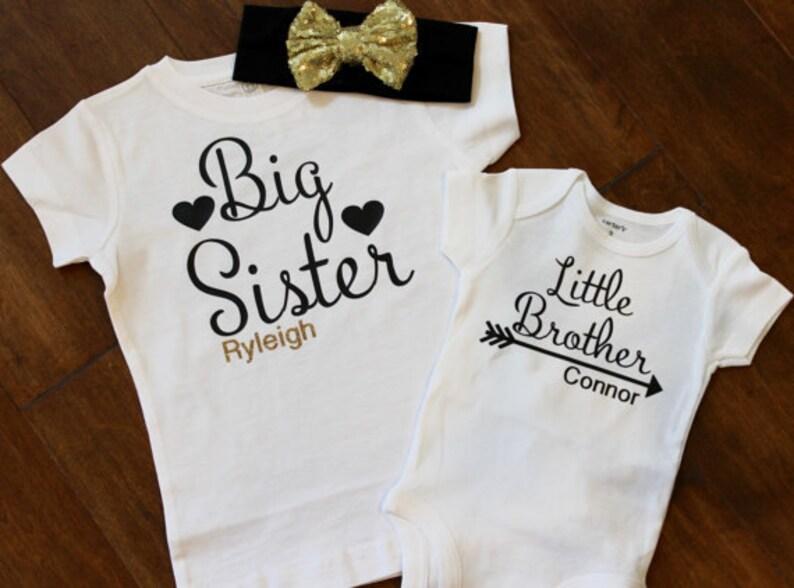 6233d7ad9899 Große Schwester-Shirt, kleiner Bruder Shirt, große Schwester kleine Bruder  Shirt Set. Großer Bruder, Schwester, Geschwister-Hemd, große Schwester ...
