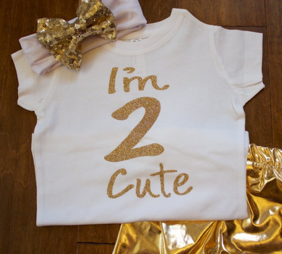Two Birthday Shirt Im Cute 2nd