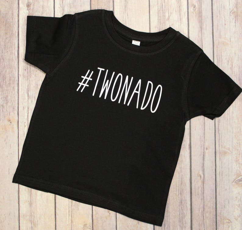 Twonado Boys Birthday Shirt 2nd Birthday 2 Birthday Shirt image 0