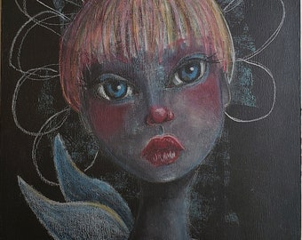 Pixie Hollow Girl, a Little Miss Tyne Mixed Media Painting