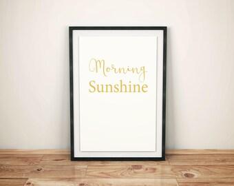 Morning Sunshine Print, Wall Art, Morning Sunshine Poster, Room Decor, Wall Hanging, Happiness