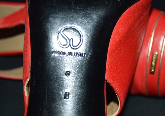 a79a60428d9 St. John Pumps Sling Back Shoes Heels Size 8 B Red Square Toe - Open to  offers