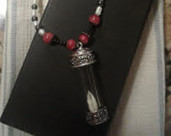 Reliquary Gothic Necklace with Vampire Fangs