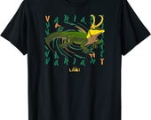marvel loki alligator variant text swirl t shirt