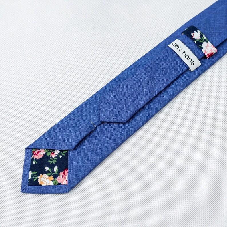 Skinny Mens Tie Skinny Necktie Skinny Tie Blue Men/'s necktie Skinny tie Gray tie Linen Skinny Tie.