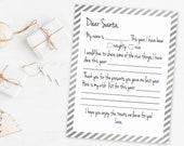 Items Similar To Printable Letter To Santa 8 5 X11