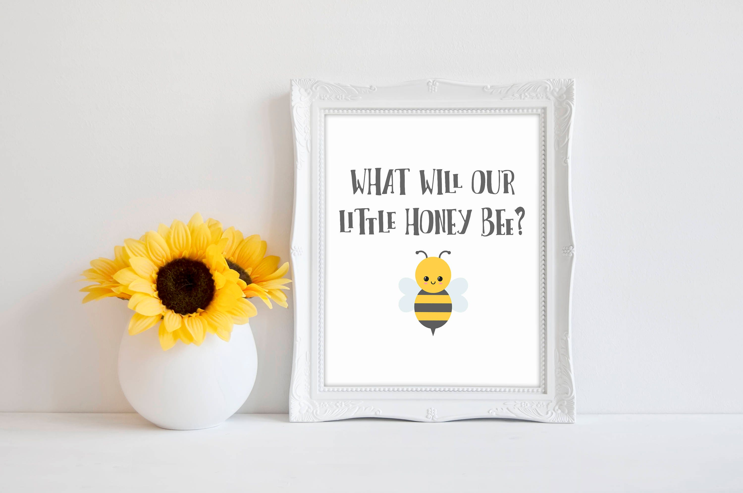 What Will Our Little Honey Bee 8x10 Bee Baby