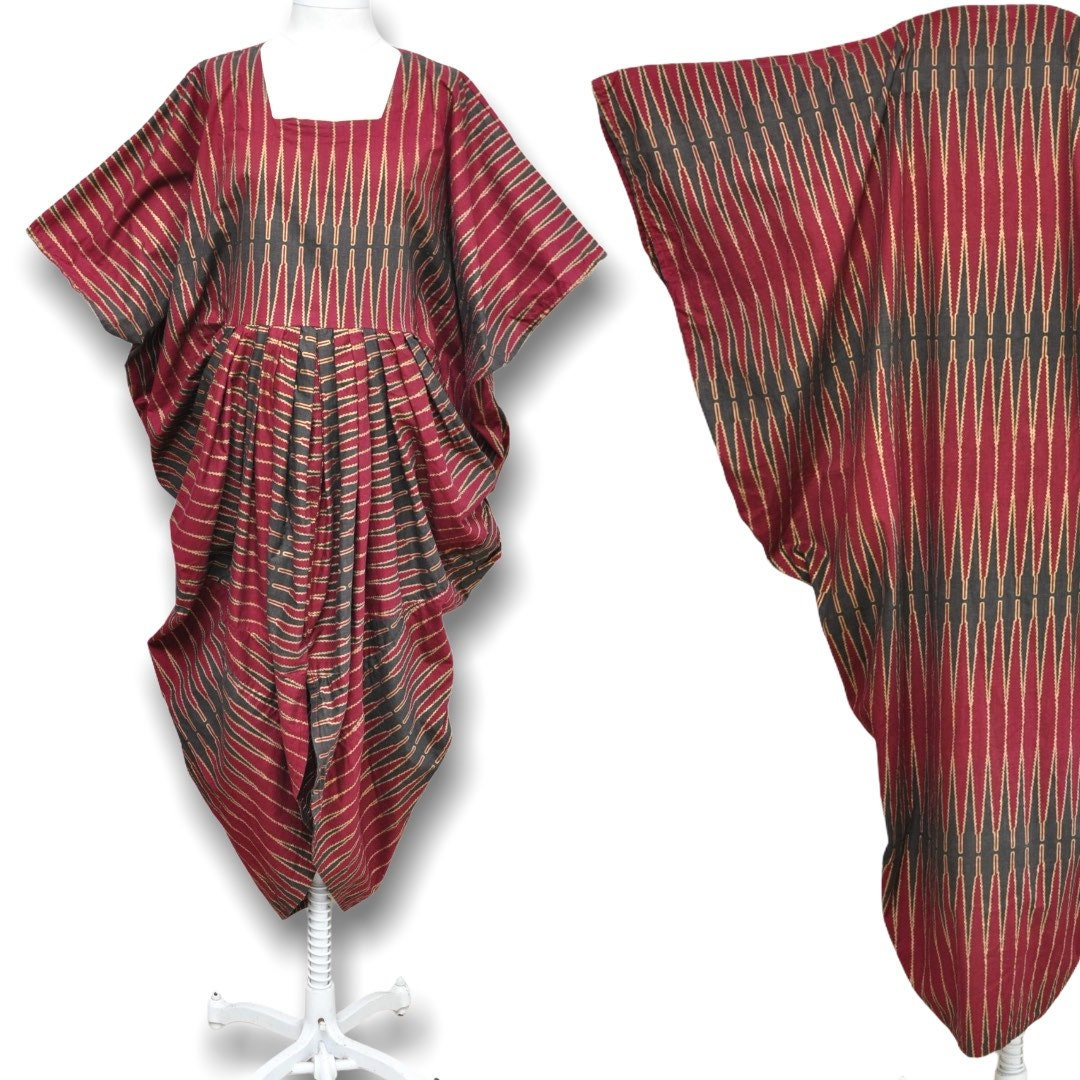 Vintage Scarf Styles -1920s to 1960s Womens Free Size African Print Dress Afrocentric Tie Back Kaftan  Head Wrap Scarf Osfa $0.00 AT vintagedancer.com